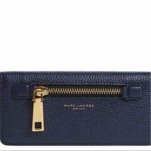 Marc Jacobs 💙Gotham Navy Leather Wallet